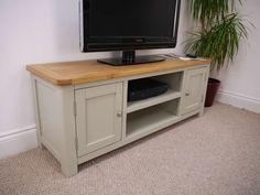 Aspen Painted Oak Sage Grey Large TV Unit