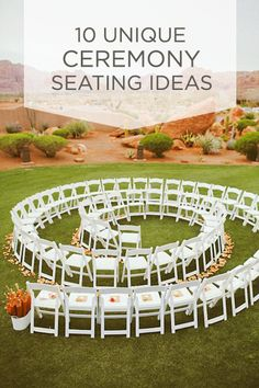 10 Unique Ceremony Seating Ideas {via Project Wedding}- I love this one... with 200 people tho? I think not :(