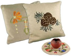 Arts & Crafts Pillows |  Textiles | Embroidery