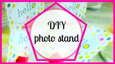 DIY photo stand, in this video you'll see how to make this super easy photo stand. this photo stand is a recycled DIY. It's the first craft of my recycled se...