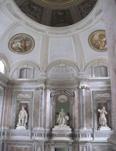 "Marble everywhere ""It has to be the most glorious and rich royal palace all over the world"" demanded Charles of Borbonis.. but he was summoned to the Spain kingdom before the Reggia was over and never stayed there"