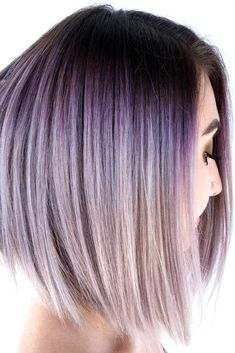 35 Trendy Lilac Hair Shades Wish I could rock this! The post 35 Trendy Lilac Hair Shades appeared first on Haar. Ombre Curly Hair, Best Ombre Hair, Brown Ombre Hair, Ombre Hair Color, Purple Hair, Curly Hair Styles, Lilac Silver Hair, Ombre Style, Silver Ombre