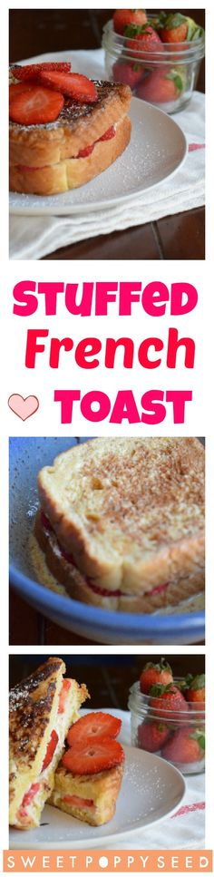 A combination of sweet cream cheese and berries sandwiched in thick amazing french toast! What's For Breakfast, Breakfast Recipes, Breakfast Items, Morning Breakfast, Good Food, Yummy Food, Delicious Recipes, Healthy Recipes, Vegetarian Recipes