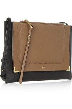 Chloe Handbag...love the black and brown with the gold detail.