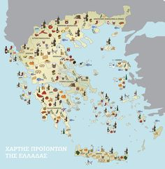 Greece Map, Simple Minds, Peaceful Life, Crete, Diagram, Illustration, Blog, School Tips, Conspiracy