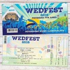 Festival Themed Wedding Stationery   WEDFEST - Festival Themed Wedding Stationery - Part 2