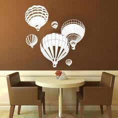 Hot Air Balloon Wall Stickers 6pcs – Next-Millennium