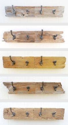 DRIFTWOOD four hook key coat hat leash rack made by GettingWeddy, $44.00