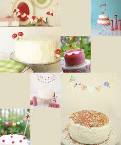 Decora las tartas y pasteles con mini guirnaldas