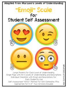 Marzanos Emoji Scale Levels of UnderstandingI came up with this student friendly scale based on Marzano's Levels of Understanding using metacognition for you to use in your classroom to help your children establish a GROWTH MINDSET.If you are looking for a way to hold your students accountable for their learning, to know how well your students are understanding the material, and for teaching your students to have a growth mindset, using these levels of understanding posters and check-ins in…