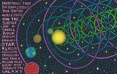 The gravitational orbit of any moon, planet, star or galaxy...