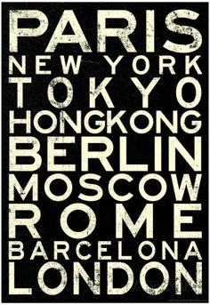 Cities of the World RetroMetro Travel Poster Poster