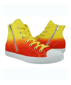Burnetie : High Top Zip Women's Sneaker-- Red/Yellow : style # 333334501