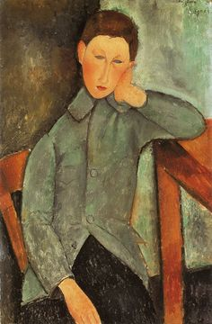 Amedeo Modigliani - The Boy (Youth in Blue Jacket)