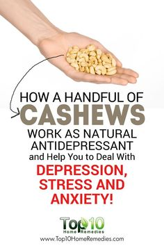 How Handful of Cashews Work as Natural Antidepressant and Help You to Deal With Depression, Stress and Anxiety! How To Cure Depression, Depression Facts, Depression Recovery, Depression Symptoms, Dealing With Depression, Foods For Anxiety, Deal With Anxiety, How To Cure Anxiety, Anxiety Help