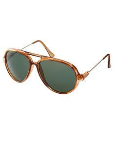 ASOS Plastic Aviator Sunglasses