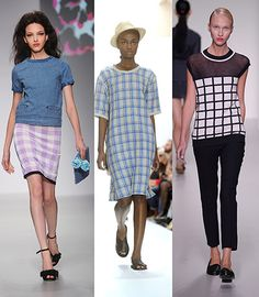 Credit: Getty / PR Check mateL-R: Sister by Sibling, Margaret Howell, J JS LeeThere has been a strong influence from the menswear collections this season. Checks are currently enjoying key trend status for AW13 men's tailoring, and distorted dogtooth checks were seen in many SS14 womenswear collections. The Prada effect saw tablecloth gingham featuring prominently, too