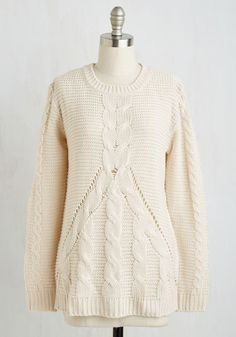 Snug as a Hug Sweater. Like a warm salutation, this prim pullover embraces you with classic comfort. #cream #modcloth