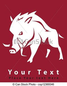 Vector - wild boar symbol - stock illustration, royalty free illustrations, stock clip art icon, stock clipart icons, logo, line art, EPS picture, pictures, graphic, graphics, drawing, drawings, vector image, artwork, EPS vector art