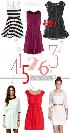 6 Valentine's Day dresses under $30 | TheMombot.com