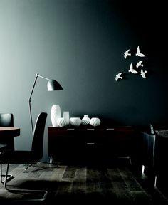 = white birds and floor lamp = Bo Concept