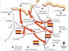 BATALLA DE BRUNETE | PSEUDOBLOGDEGERUNDIO Madrid, Wwii, Military, History, Maps, Soldiers, Battle, Literatura, Civil Wars