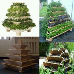 container gardening made from pallets