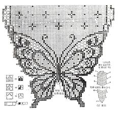 lots of russian and japanese patterns for doilies and filet crochet Discussion on LiveInternet - Russian Service Online DiariesI really need to learn how to crochet this. Crochet Curtain Pattern, Crochet Butterfly Pattern, Crochet Curtains, Crochet Motif, Crochet Shawl, Crochet Designs, Crochet Doilies, Crochet Patterns, Filet Crochet Charts