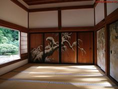 Cool for decor in dojo Japanese Mansion, Japanese Style House, Japanese Buildings, Traditional Japanese House, Japanese Homes, Japanese Castle, Asian Design, Japanese Design, Japanese Sliding Doors