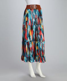 Take a look at this Coral Watercolor Maxi Skirt by Meetu Magic on #zulily today! $14.99