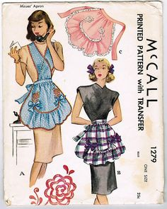 McCall 1279 Vintage 1940s Apron Pattern