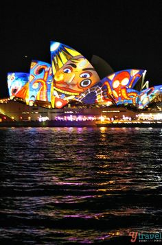 The Sydney Opera House during Vivid Sydney Festival