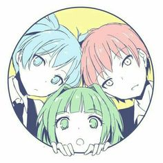 Nagisa, Karma, Kaede; Assassination Classroom