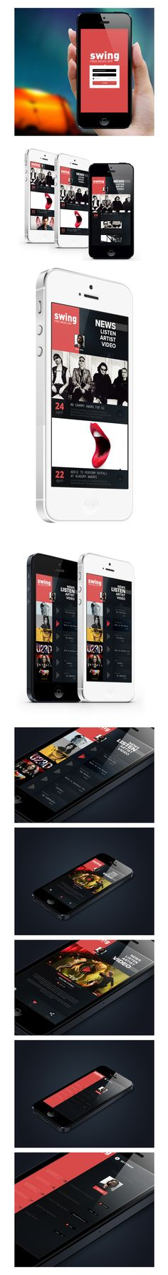 Dates, Listings and Settings  iphone Music App. Concept