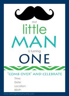 Little Man free printable invite