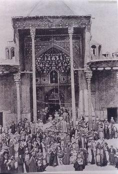 صورة قديمة لضريح الامام الحسين عليه السلام