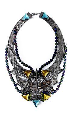 Esther's necklace shape.   Vanderbilt Bib Necklace by Fenton for Preorder on Moda Operandi