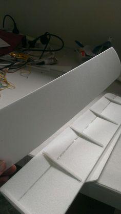 Ribs in place  2mm sheet cut for underside.