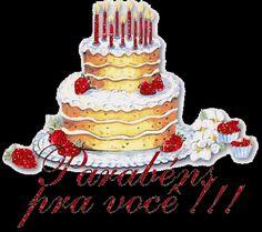 blogAuriMartini: As melhores Mensagens de Feliz aniversário Birthday Wishes, Happy Birthday, Birthday Cake, Mary Pop, Christmas Ornaments, Desserts, Gifs, Facebook, Lifestyle