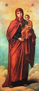 Икона Божией Матери «Благодатное Небо» относится группе «Акафистных икон», основным смыслом которых является прославление Богородицы как Царицы Небесной. Ей молятся о наставлении на путь, ведущий ко спасению и наследию Царствия Небесного.