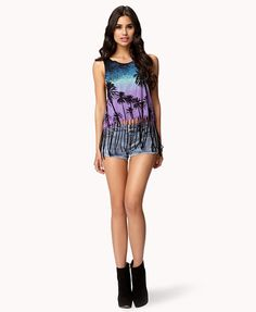 Fringed Palm Muscle Tee | FOREVER21  SO CUTE