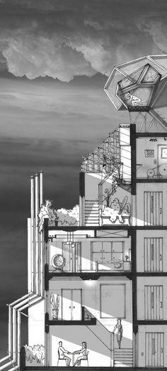 Galeria - Arte e Arquitetura: desenhos arquitetônicos que evidenciam o espaço do Eixo Z - 4
