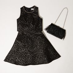 Coast 2016 | The little black dress is an autumn essential, refreshed for the season in a chic animal print. #ootd #littleblackdress #animalprint #aw16