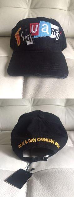 Hats 52365: Nwt Men S Dsquared2 Black Trucker Hat One Size Deananddan Dean Dan Usa Ship Icon -> BUY IT NOW ONLY: $49.95 on eBay!
