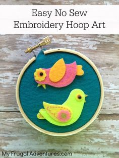Easy No Sew Embroide