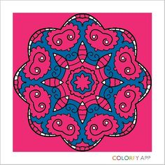 I made the with Colorfy its fun and Easy to color With (Play store)