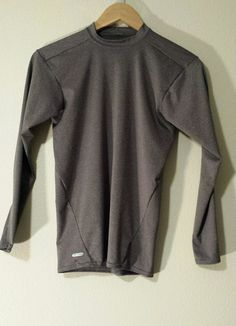 Boys Youth DRI-STAR Starter Gray Mock Turtleneck Long Sleeve Dri-Fit Size S EUC #Starter #BaseLayer #Casual #DriFit #Active