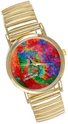2c5157b2b613b Leoma Lovegrove watch offers a vibrant style with a colorful seahorse  design. Leoma s Seahorse Soiree