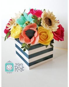 I'm loving making custom flower boxes for you all! Thank you so much for supporting and ❤ If you're having a wedding next year and want forever felt flowers contact me! Spots are limited! Felt Flowers, Diy Flowers, Fabric Flowers, Paper Flowers, Felt Flower Bouquet, Felt Flower Wreaths, Cute Crafts, Felt Crafts, Wood Crafts