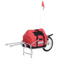 2 in 1 Transportanhänger Lastenanhänger Anhänger Einrad Fahrrad Anhänger